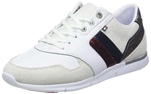 Tommy Hilfiger Leather Light Sneaker, Zapatillas para Mujer: Amazon.es: Zapatos y complementos