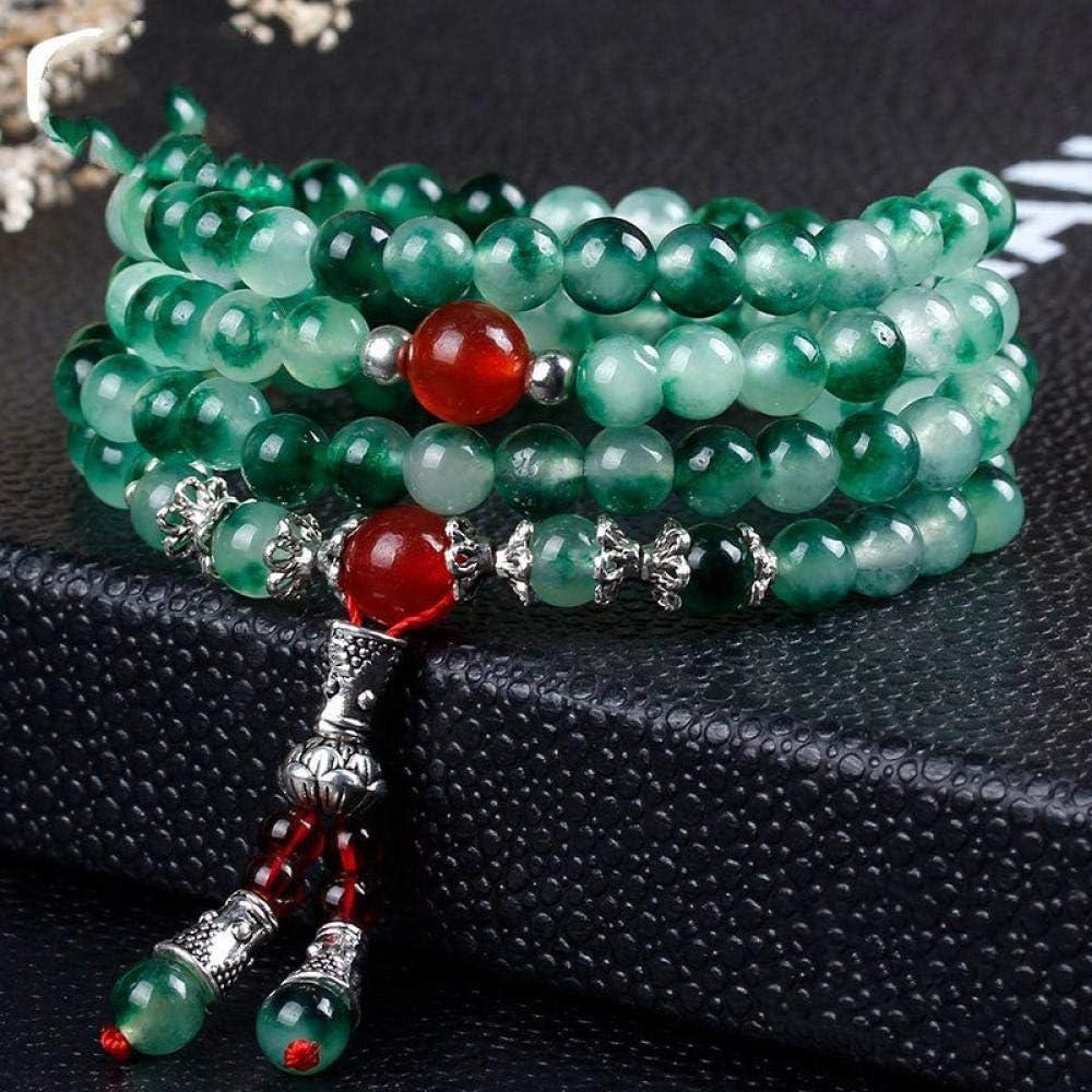Pulsera De Piedra,La Piedra Natural Multicapa Bordada Pulsera Brazalete Naturales De Jade Verde Jade Ágata Cera Color Crystal Joyas Mano Pulsera Anillo Prendas Personalizadas Accesorios Joyas