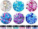HITOP Cosmetic Glitter for Nail Face and Body,6 Colors 113g 3.99oz