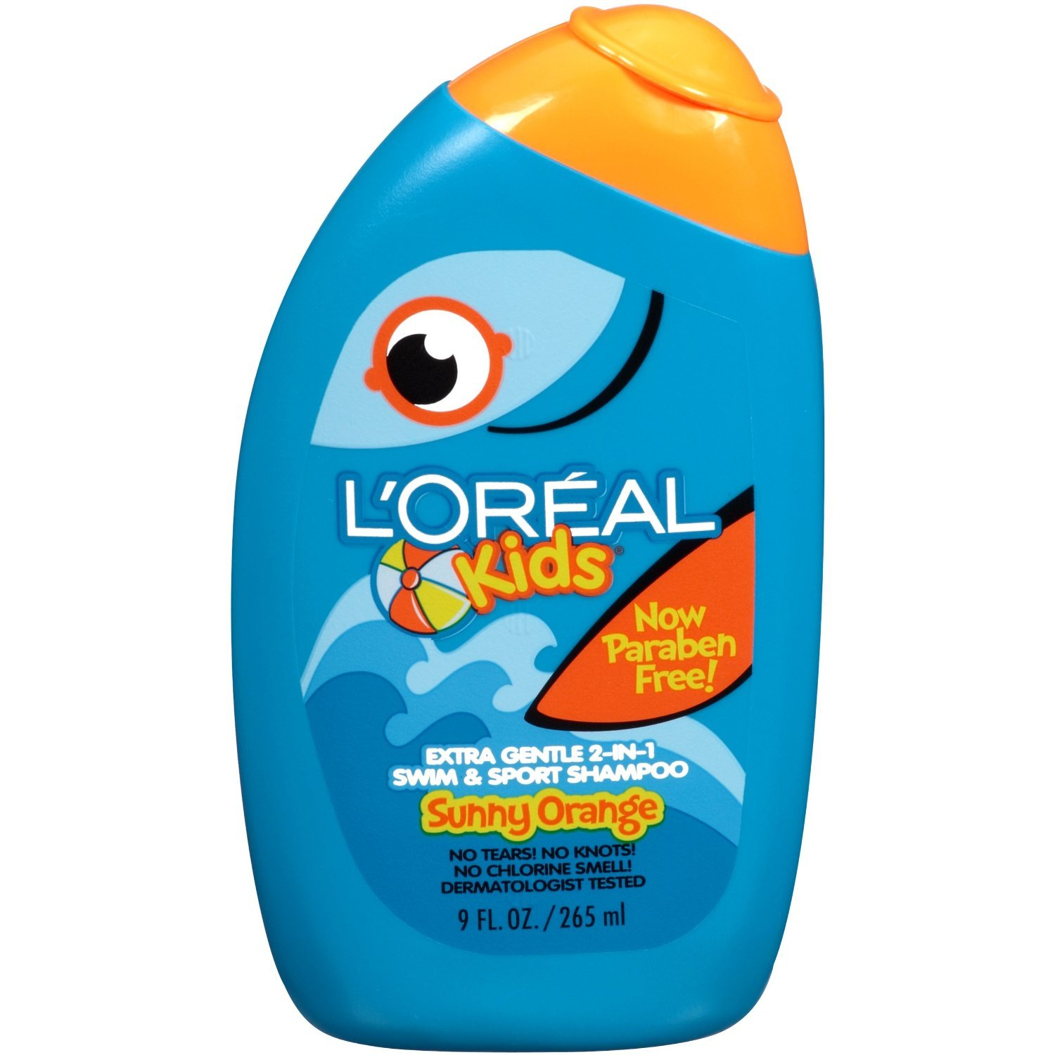 L'Oreal Kids Extra Gentle 2-in-1 Swim & Sport Shampoo, Sunny Orange, 9 Oz (Pack of 3) by L'Oreal Paris