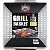 Grill Basket - Grill Baskets for Outdoor Grill, Heavy Duty Stainless Steel Vegetable Grill Basket, Grilling Basket for Veggie
