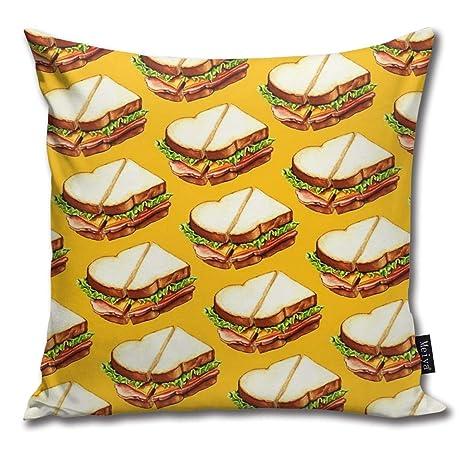 Cocoal-ltd Funda de cojín con diseño de sándwich de jamón ...