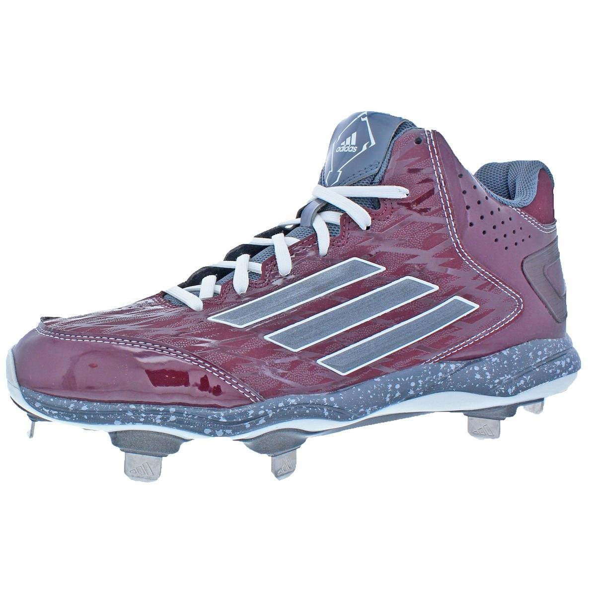 adidas Performance Men's PowerAlley 2 Mid Baseball Cleat B00MVPMGHW 8 D(M) US|Maroon/Onix/Carbon Metallic