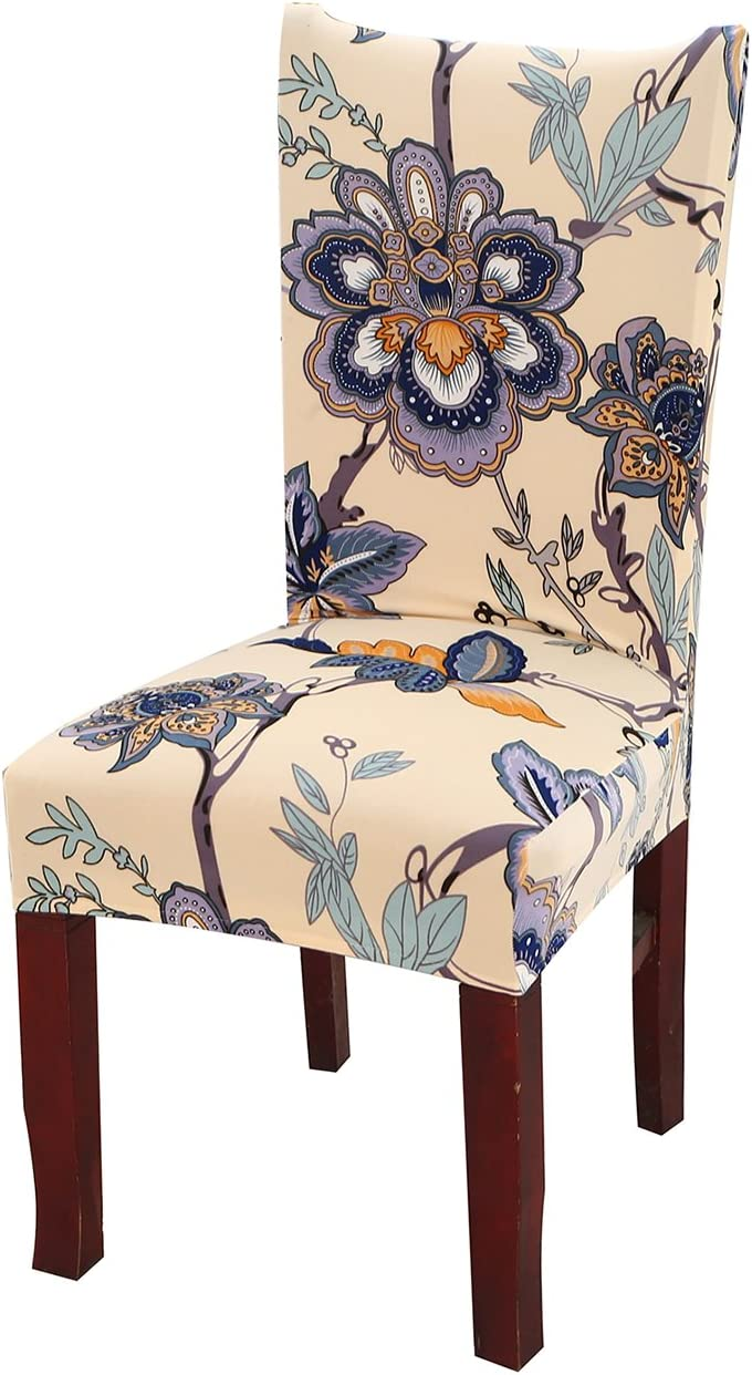 Kaariss Stretch Removable Washable Short Dining Chair Protector Cover Slipcover, 01