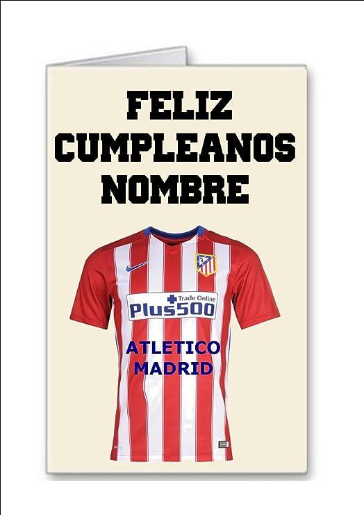 Tarjeta de cumpleaños del equipo de fútbol de Atletico ...