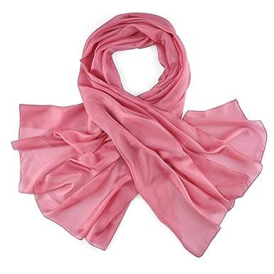 Allée du foulard Etole soie vieux rose  Amazon.fr  Vêtements et ... 5ca2a14186d