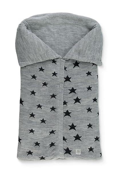 Saco Abrigo de Punto con Estrellas para Capazo del Bebé Gris Marengo/Gris - Minutus