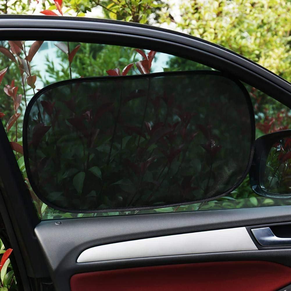Tela Malla Doble Nailon y PVC 4 Piezas Parasol de Coche CompraFun Sombrilla Autoadherente de Ventana Lateral Protege a Ni/ño y Mascota de Luz de Sol Bloqueo de Rayos UV Nocivos 50*30 + 44*36cm