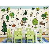 I-love-Wandtattoo WAS-10005 Wandsticker Kinderzimmer Waldtiere Sticker Aufkleber Wandtattoo Wandaufkleber