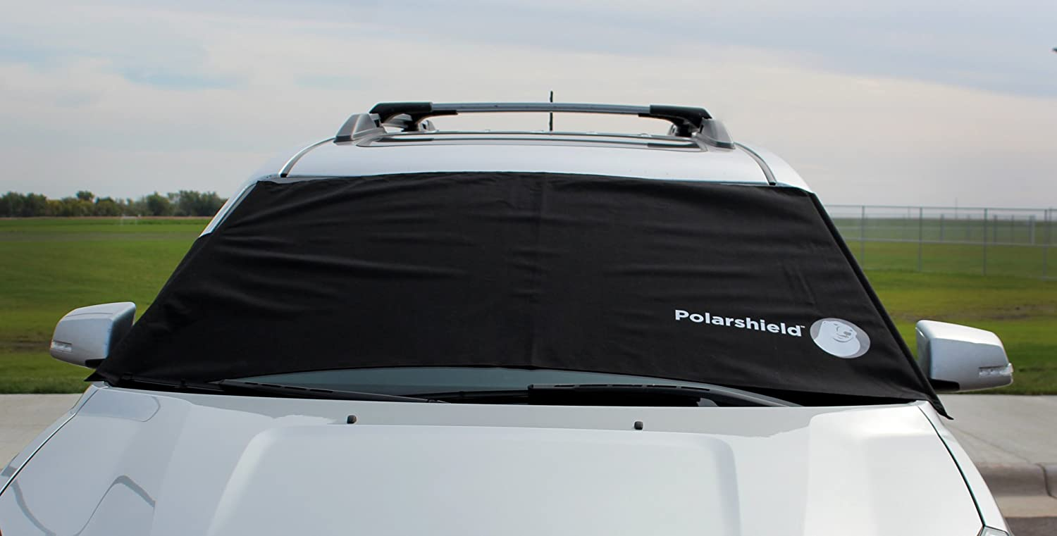 Delk Polarshield Winter Snow Car Wind Proof Windshield Cover with Security Panels Standard Size