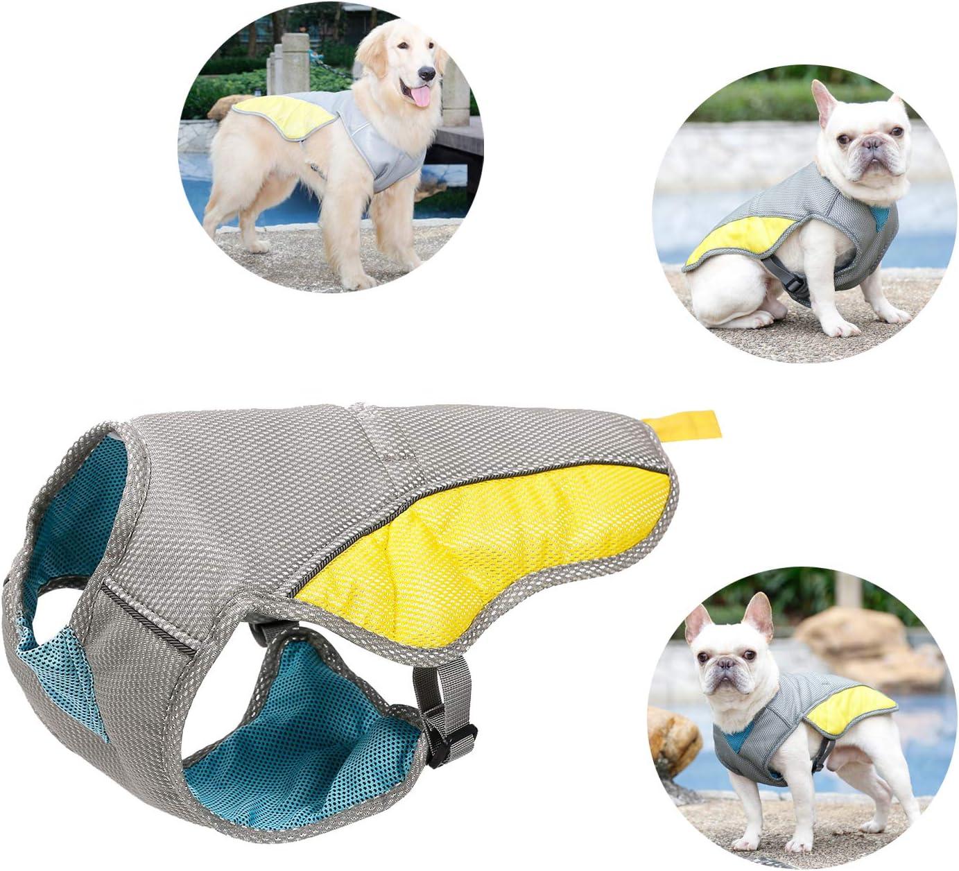 Tineer Pet Cooling Vest, Reflective Vest Dog Jacket Cooler Summer for Small Medium Large Dogs Walking,Climbing,Sports
