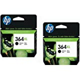 Hewlett-Packard (HP) Original 364XL Black Twin Set - For HP Photosmart B8550, B8553, B8558, C6380, C6383, C5324, C5383