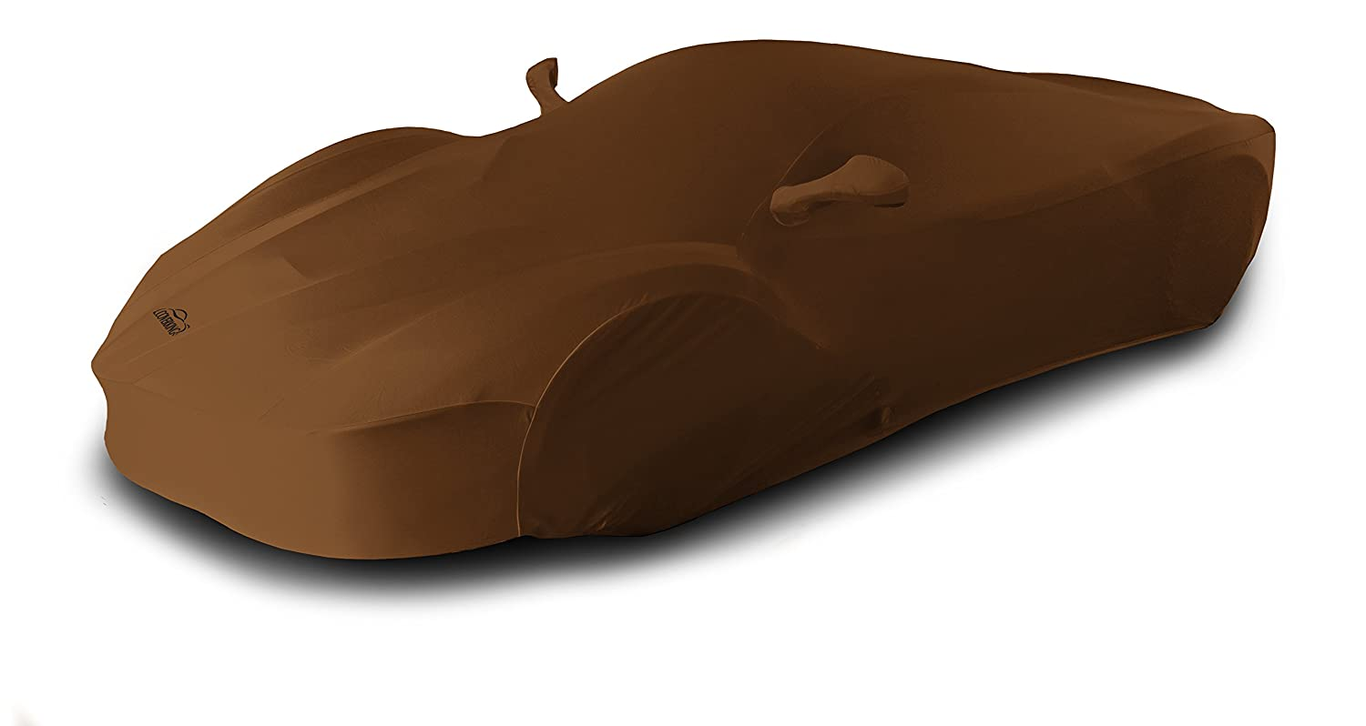 Rust Orange with Black Sides Coverking Custom Fit Car Cover for Select Chevrolet Corvette Models Satin Stretch