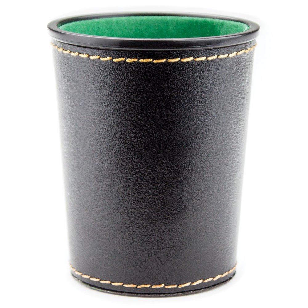 Felt-Lined Synthetic Leather Dice Cup by Brybelly