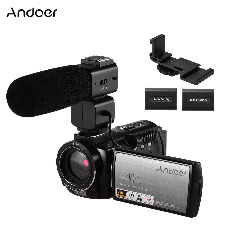 Andoer Dual Hot Shoe V Staffa di Montaggio per Video Luci Microfoni e Monitor su Fotocamere e Videocamere