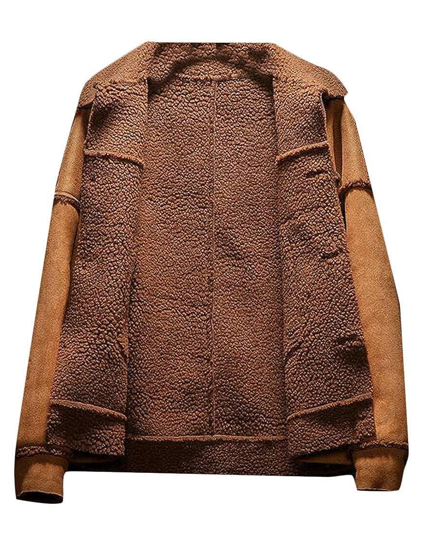 XTX Mens Pocket Classic Toggle Hoody Fleece Faux Fur Lined Jacket Anoraks Parka Coat