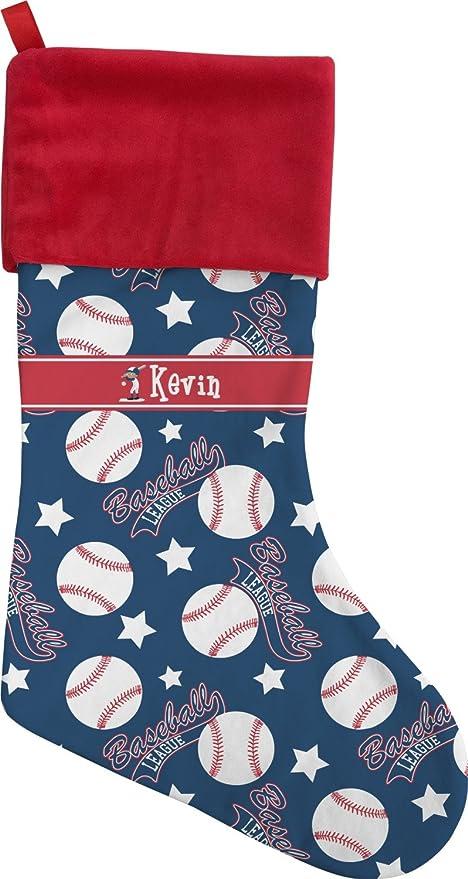 rnk shops baseball christmas stocking single sided personalized - Baseball Christmas