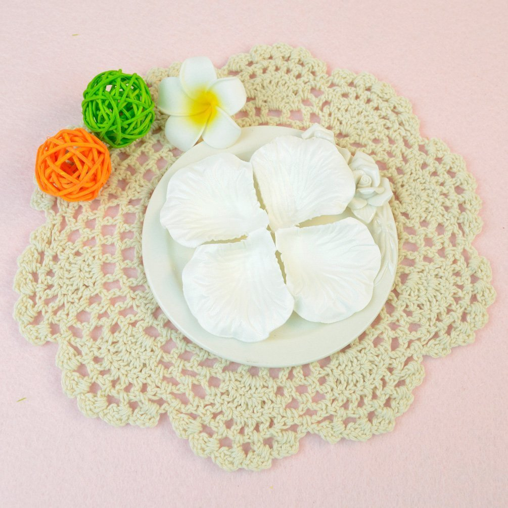 Amazon Dxhycc 1000pcs White Silk Rose Petals Artificial Flower