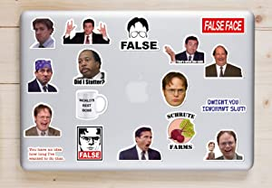 The Office Sticker 48 PCS Pack - Dunder Mifflin Stickers Funny Stickers for Laptops, Computers,Waterproof Vinyl Water Bottle MacBook Car