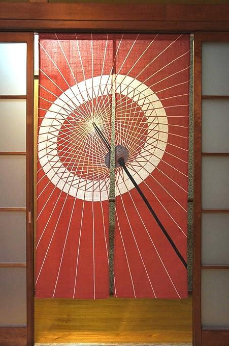 """Cosmos Noren (cortina japonesa) """"Bangasa japonés tradicional paraguas karakasa 85 ..."""