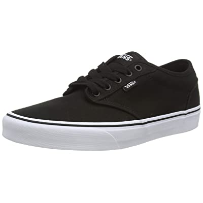 Vans Atwood, Men's Skateboarding Shoes, Black/White Canvas, 7.5 UK, 41 EU | Skateboarding