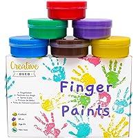 Creative Deco Temperas Pinturas Lavables de Dedos |