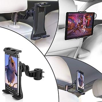 MidGard Soporte Universal del reposacabezas del Asiento de Coche para la Tableta PC/Smartphone: Amazon.es: Electrónica