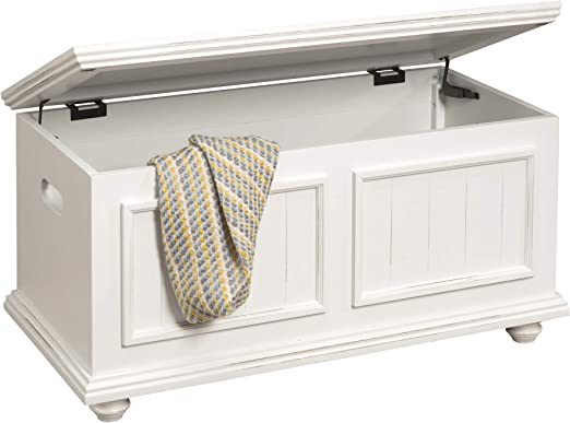Driftwood HomePop Cape May Wood Storage Trunk with Hinged Lid