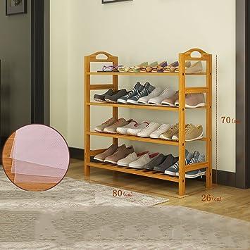 DW&HX Closet Zapatos,Multicapa Estante del Zapato Madera sólida Casa Estante del almacenaje Caja Zapateros