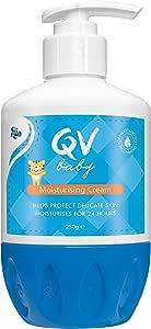 QV Baby Moisturising Cream with Pump, Fragrance Free, 250 Grams