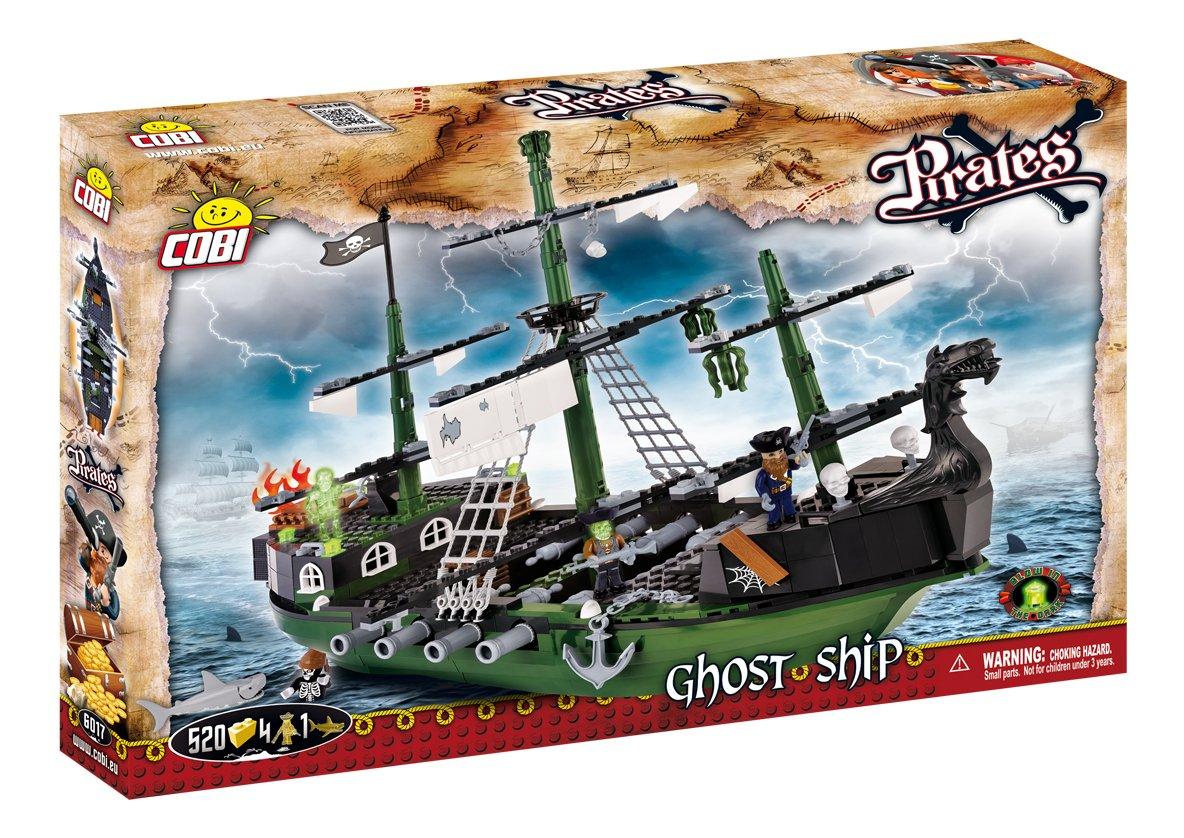 COBI- Ghost Ship, colore verde Nero Grigio, 6017