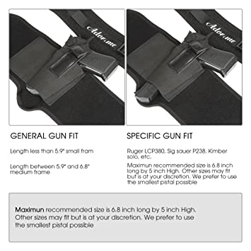 Adorime Ankle Gun Holster Holder for Concealed Carry Pistol Three Layer  Non-Slip with Breathable & Adjustable Nylon Strap - Fits Glock 42, 43, 36,  26,
