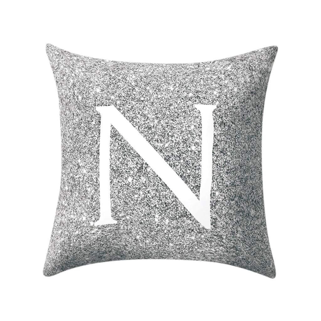 Seaintheson 18 X 18 Inch Kissen Englisch Alphabet Pillowcases Cushion Cover Car Decoration Indoor Pillow