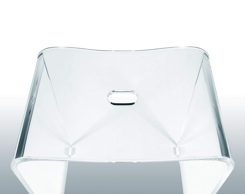 Libaro sgabello da bagno meran in acrilico trasparente adatto