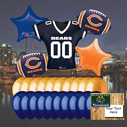 Marvelous Amazon Com Anagram Chicago Bears Balloon Set Toys Games Funny Birthday Cards Online Fluifree Goldxyz