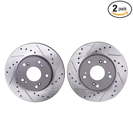 For Honda Civic Acura ILX CSX Rear StopTech Slotted Brake Rotors Set Sport Pads