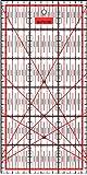 Patchwork Lineal Zentimeterraster 30 cm x 15 cm - Rot