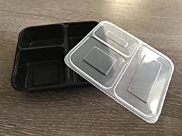 10 pack 3 fach mahlzeit prep container bento box tupperware set mit deckel sp lmaschine. Black Bedroom Furniture Sets. Home Design Ideas