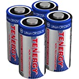 Tenergy 3V CR123A Lithium Battery, High Performance CR123A Cell Batteries PTC Protected for Cameras and Smart Sensors 4…