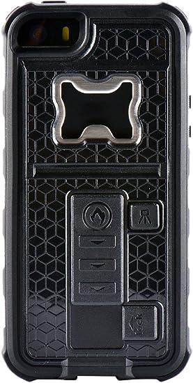 ZVE Coque multifonction pour iPhone 5/5S avec briquet et décapsuleur, Silicone, noir, Iphone 5 5s 131.6*66.5*20mm