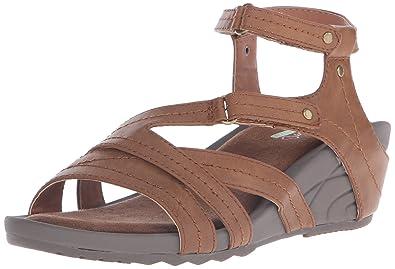 fd29e1566e8 BareTraps Women s Belina Wedge Sandal Brush Brown 7 ...