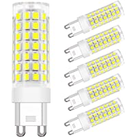 DiCUNO G9 LED Ceramic Bulb 4.5W 450LM Daylight White 6000K 220-240V Energy Saving Lamp Chandelier Non-dimmable 6Pcs