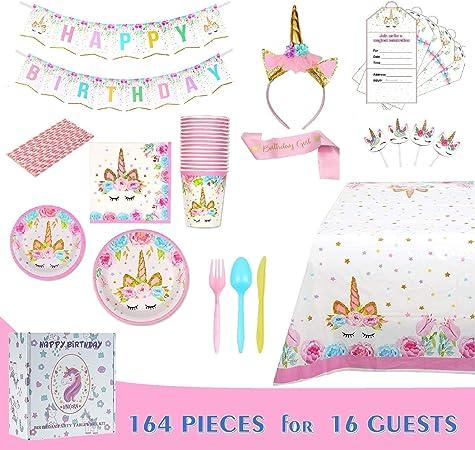 Amazon.com: Paquete de fiesta de cumpleaños con temática de ...