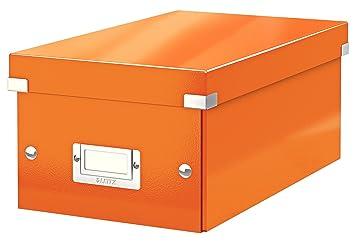 Leitz Caja para guardar DVD, Naranja, Click and Store, 60420044
