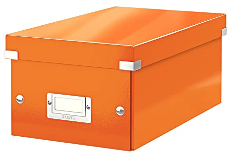 Leitz Caja para guardar DVD, Naranja, Click and Store, 60420044