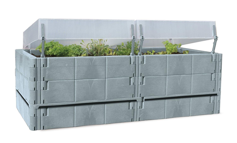 Juwel Hochbeet mit Frühbeetaufsatz - Balkon Hochbeet