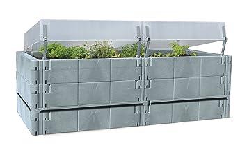Balkon Und Terrassen Hochbeet Mit 2 Thermohauben Drainageboden