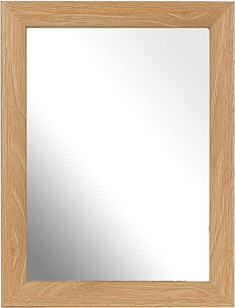 Inov8 Caja Marco Espejo Tradicional, Cal Roble, 7 x 12,7 cm, 4 Unidades: Amazon.es: Hogar