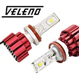 veleno LED フォグランプ 実測値 8200lm 3200k イエロー フォグ 明るさを追求した オリジナル ledライト 車検対応 H8 12V車用 (H11 H8 H16共用バルブ)
