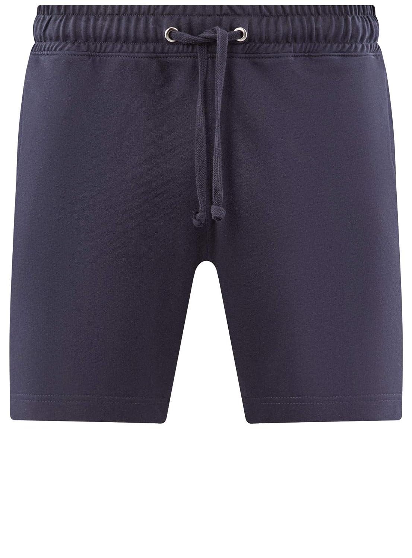 oodji Ultra Hombre Pantalones Cortos de Algodón con Cordones ...